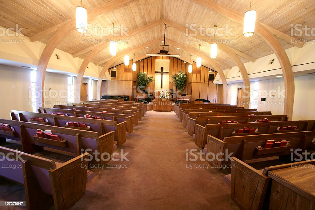 Small Church Sanctuary stock photo