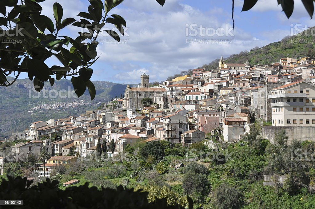 small city in sicily royalty-free stock photo