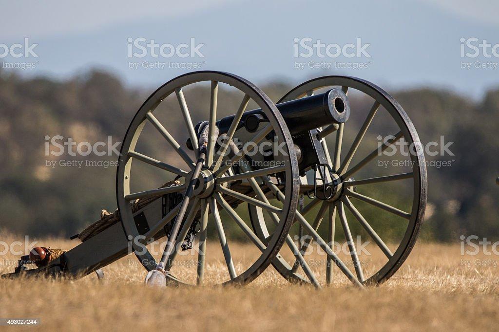 Small Civil War era Cannon stock photo