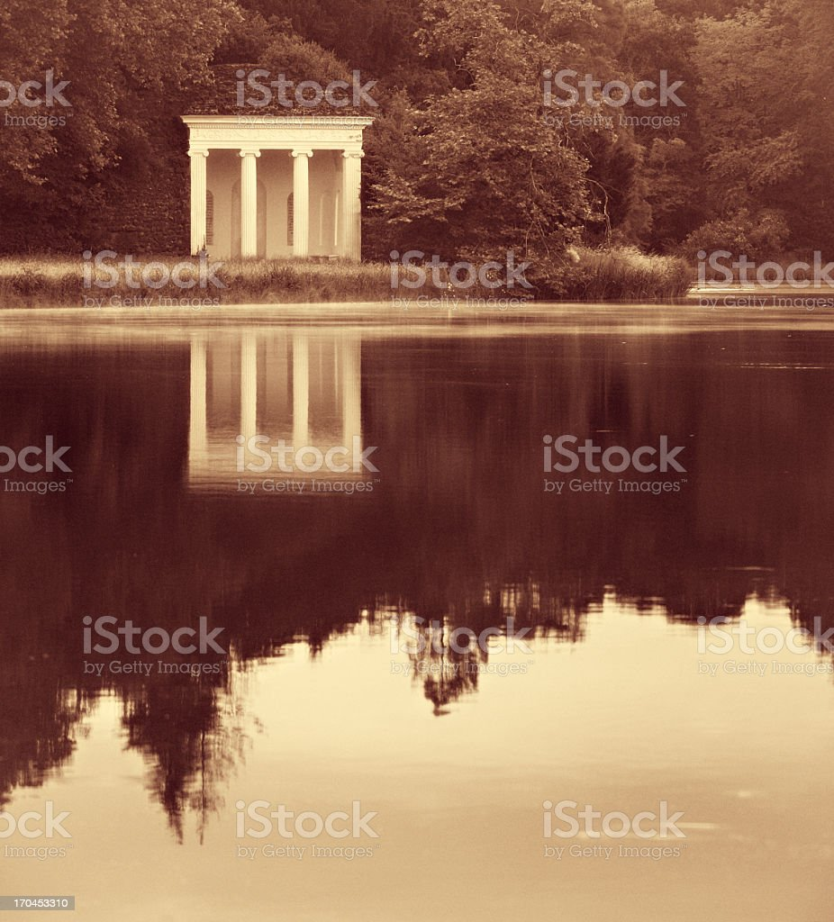 Small Classical Temple by a Lake royalty-free stock photo