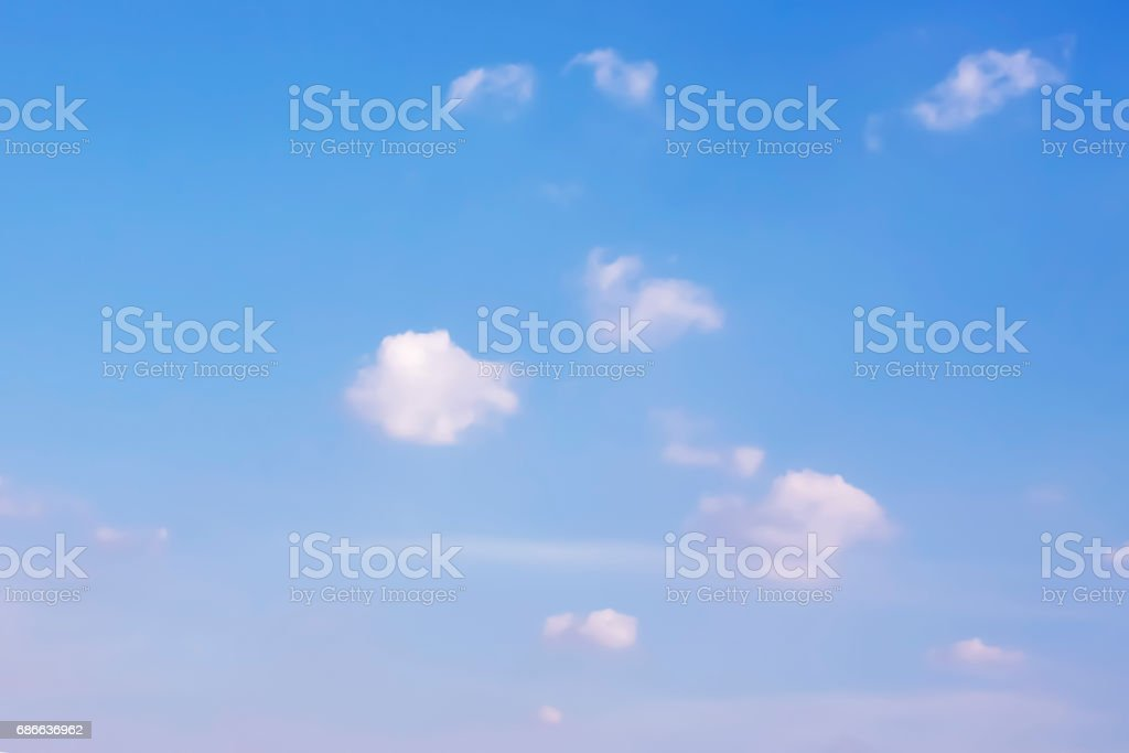 Small Clouds and Blue Sky Background. royalty-free stock photo