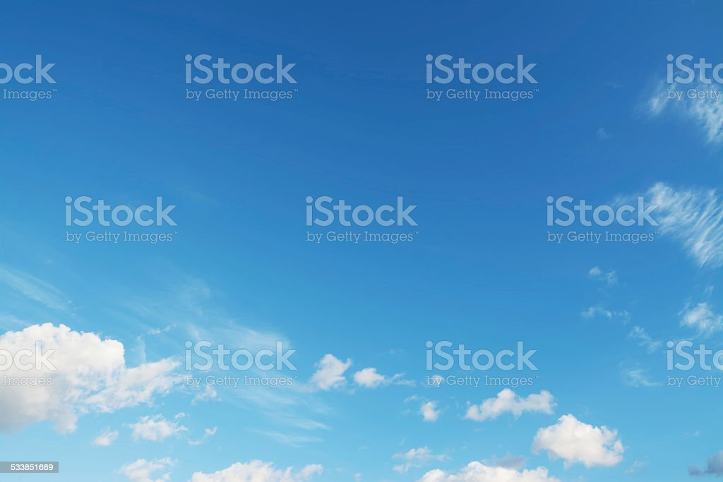 small clouds stock photo