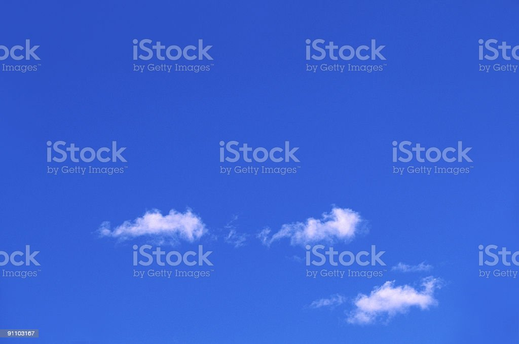 Small clouds royalty-free stock photo
