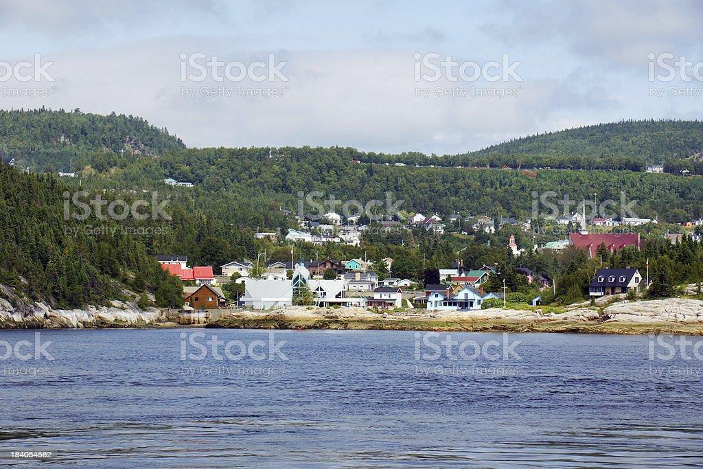 Small coast town stock photo
