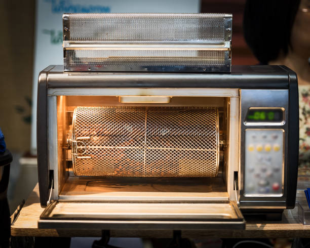 Small coffee roaster stock photo
