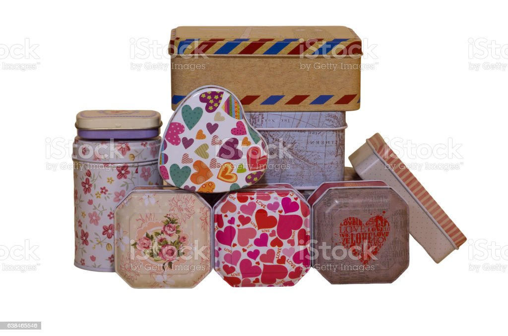 small colored boxes stock photo