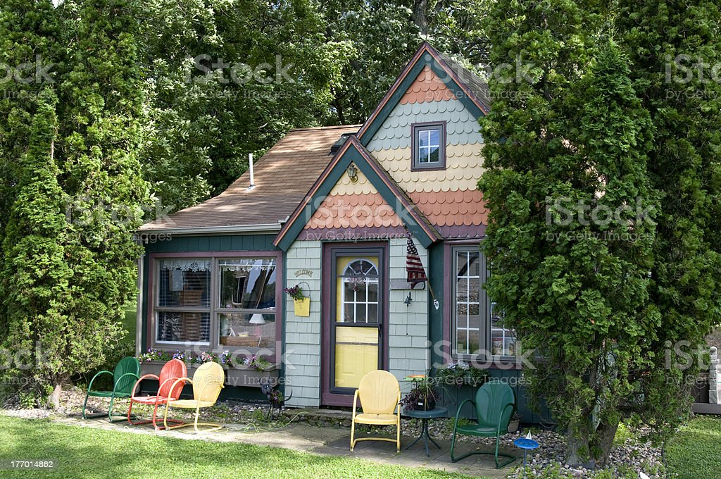 Small Colorful Cottage royalty-free stock photo