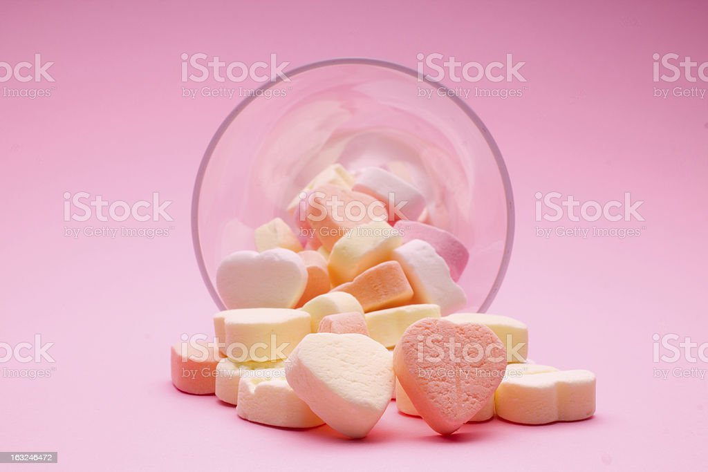 Small colorful hearts royalty-free stock photo