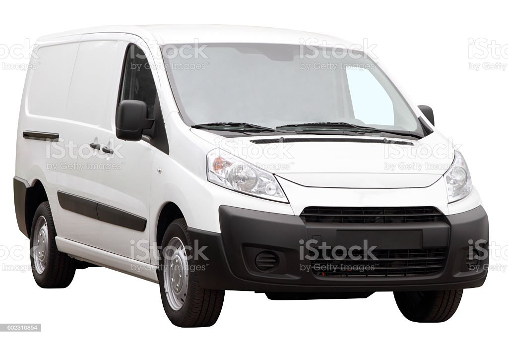 Small compact minivan. stock photo