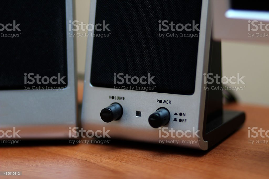 Small Computer speaker stock photo