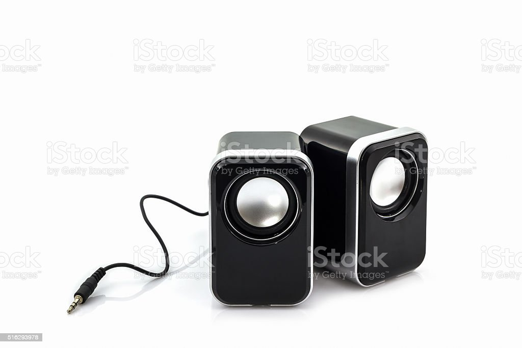 Small computer speakers. stock photo