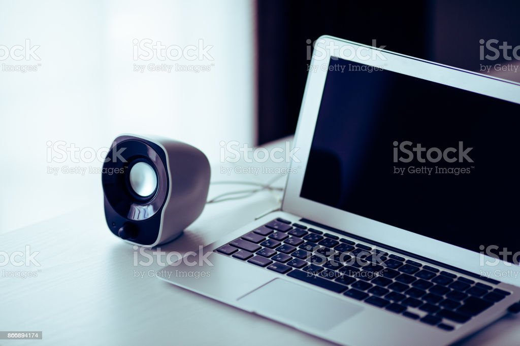 Small Computer Speakers stock photo