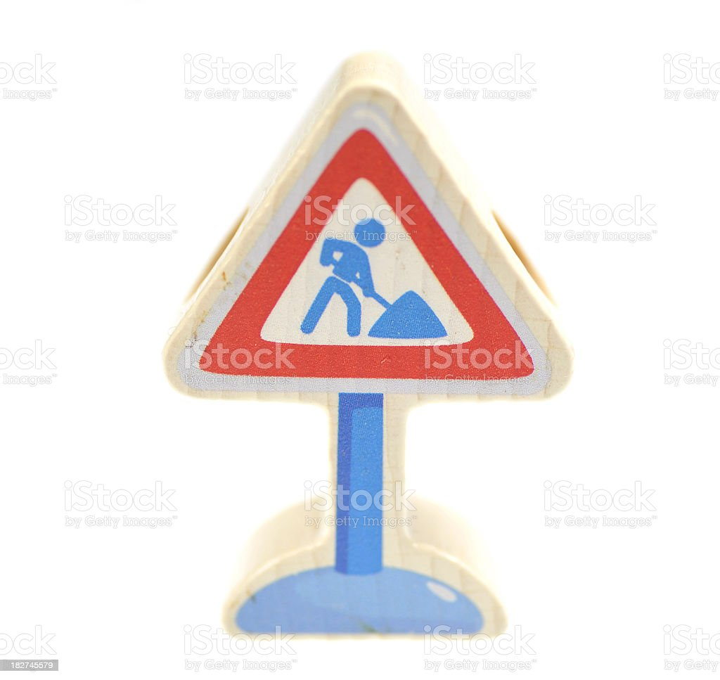 small construction site signs - Baustellenschild royalty-free stock photo