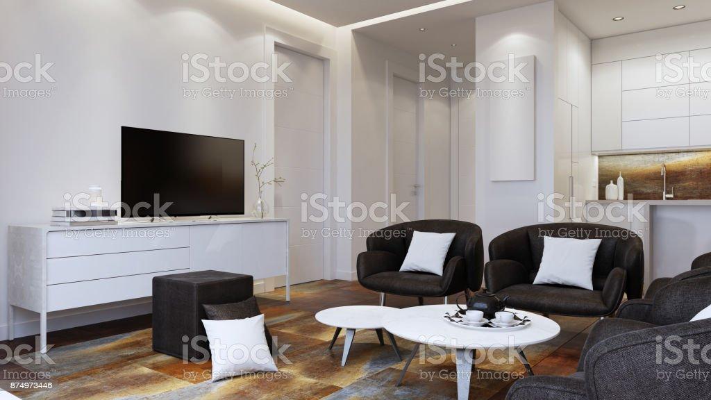 Kleine moderne Interieur Wohnung – Foto