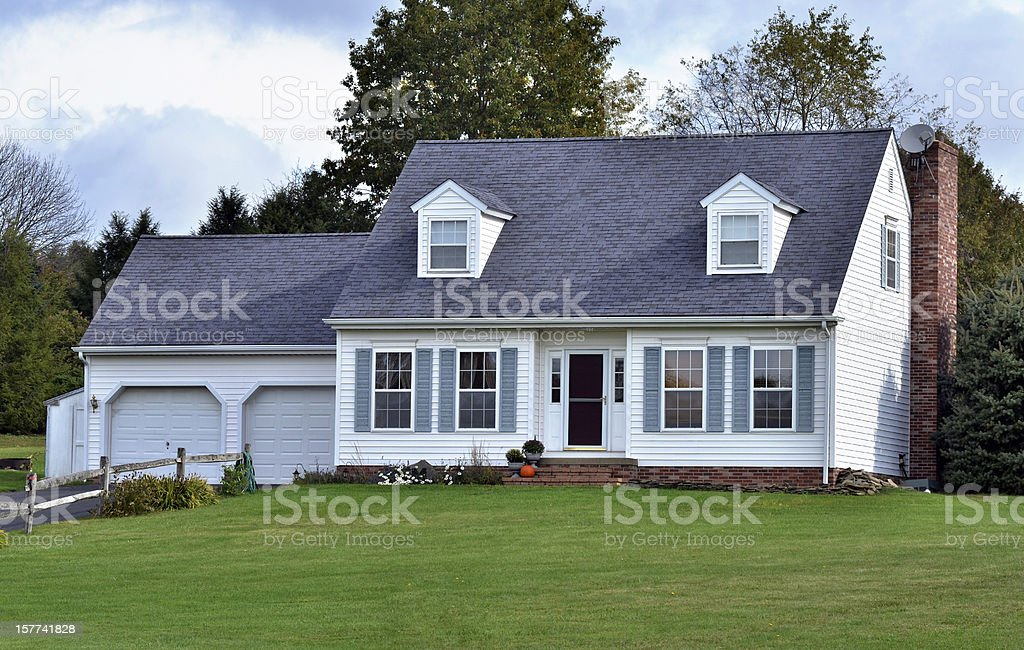 Small Cottage in a Peaceful Setting stock photo
