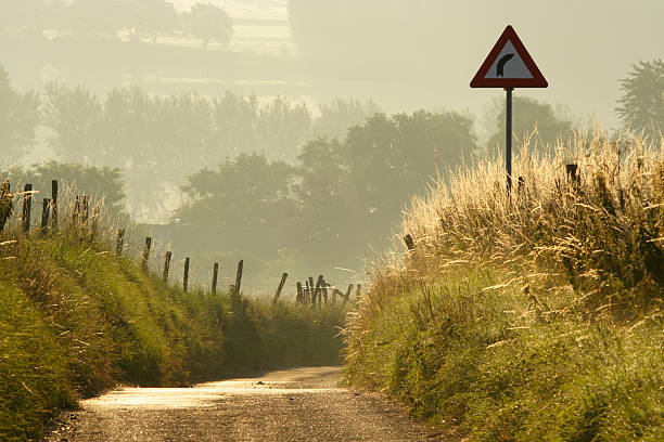 Small countryroad stock photo