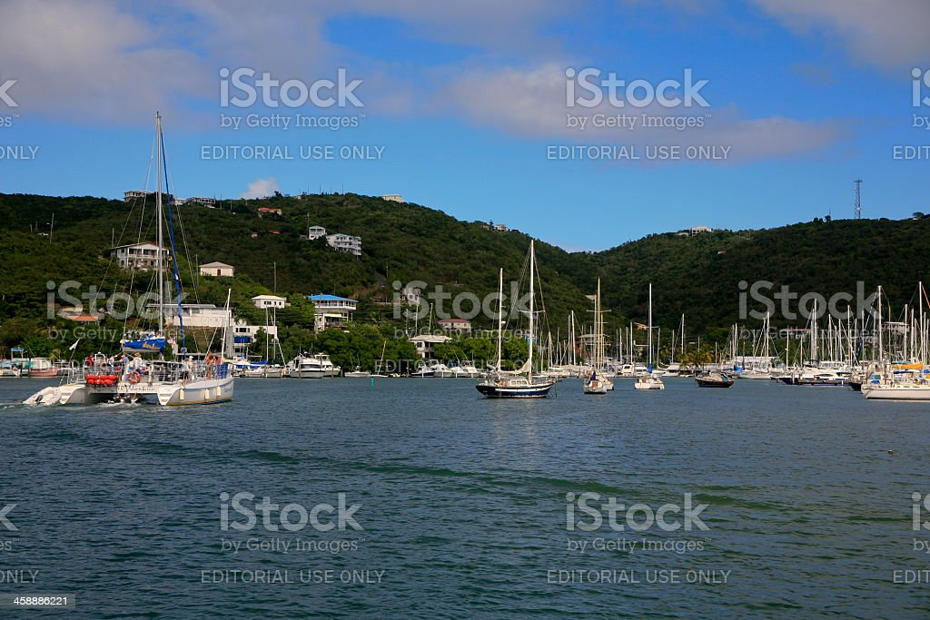 Small Craft Harbour, St. Thomas, US Virgin Islands royalty-free stock photo