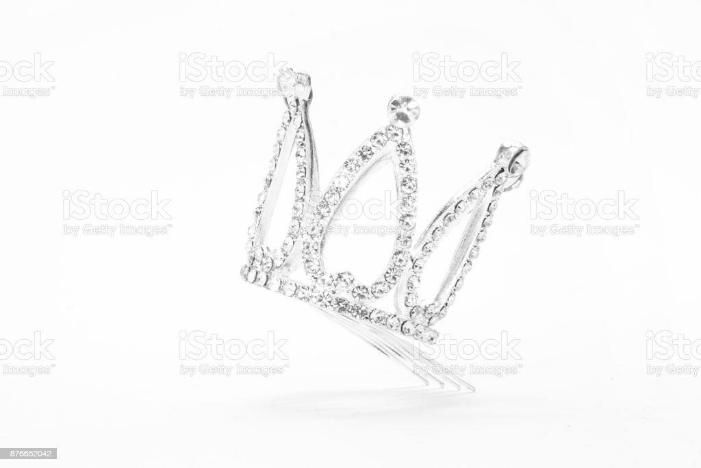 small crown isolated on a white background stock photo