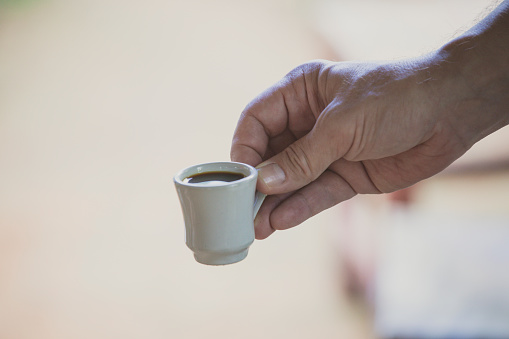 Small Cup Of Coffee Stock Photo - Download Image Now