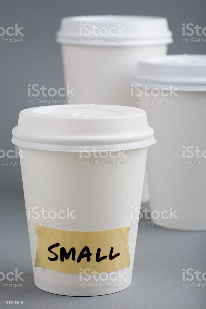 Small cup stock photo