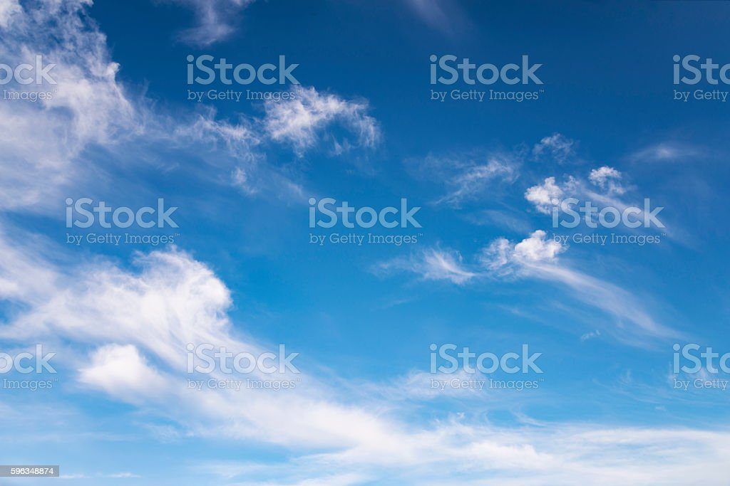 small curly clouds against the background of a blue sky royalty-free stock photo