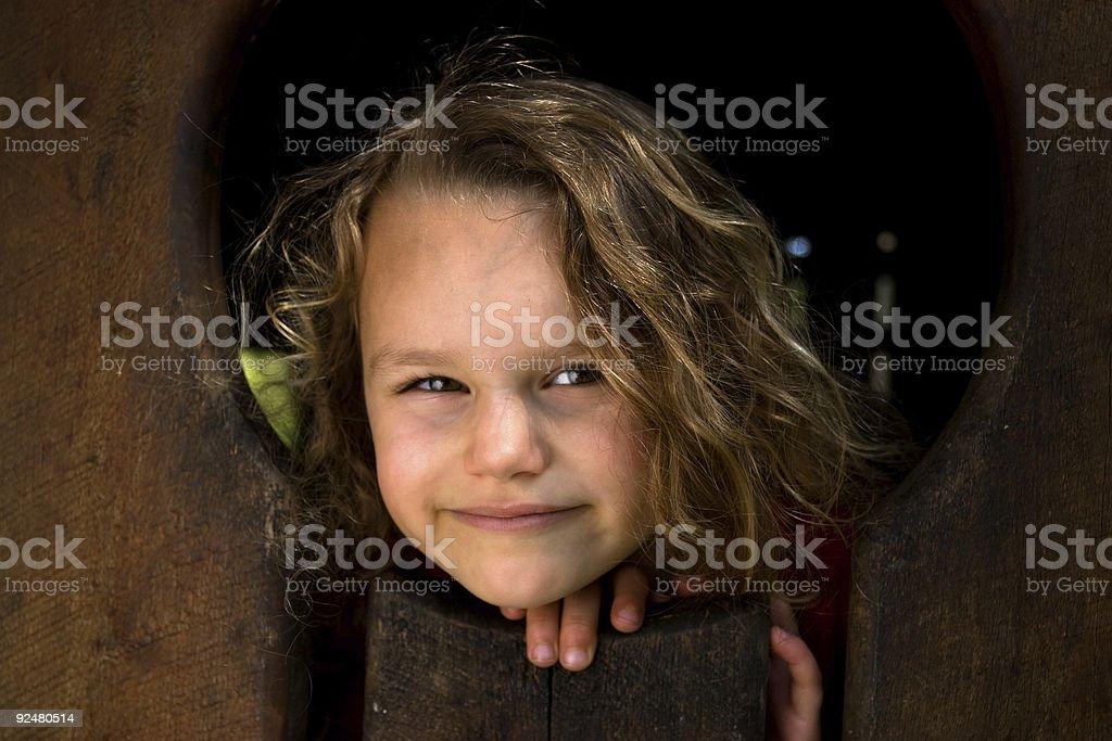 Small cute girl royalty-free stock photo
