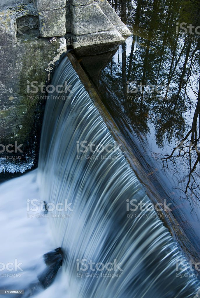 Small Dam in Connecticut royalty-free stock photo