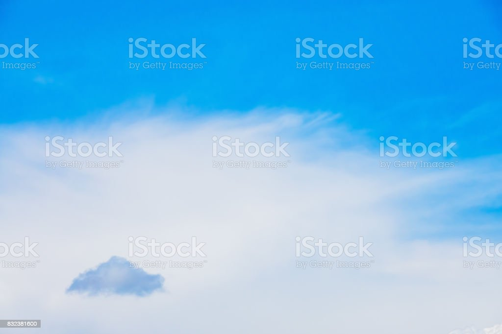 Small dark cloud and summer sky stock photo