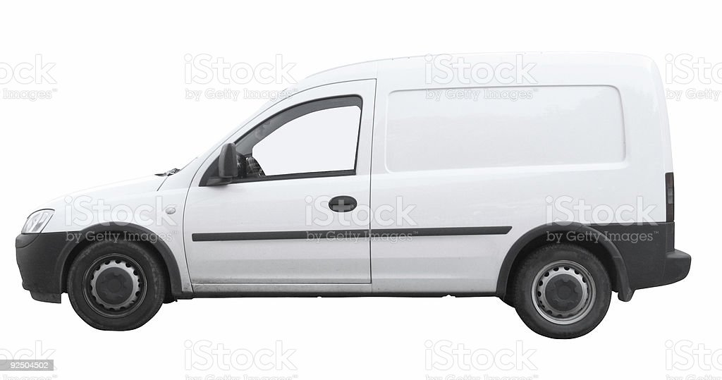 Small delivery van [with clipping paths] royalty-free stock photo