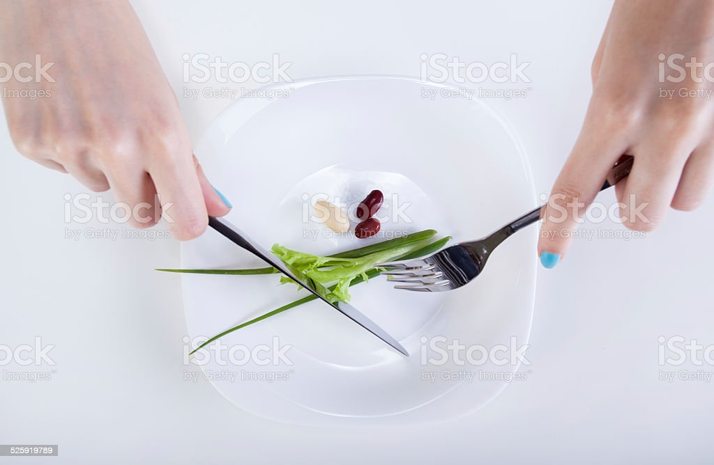 Small diet meal stock photo