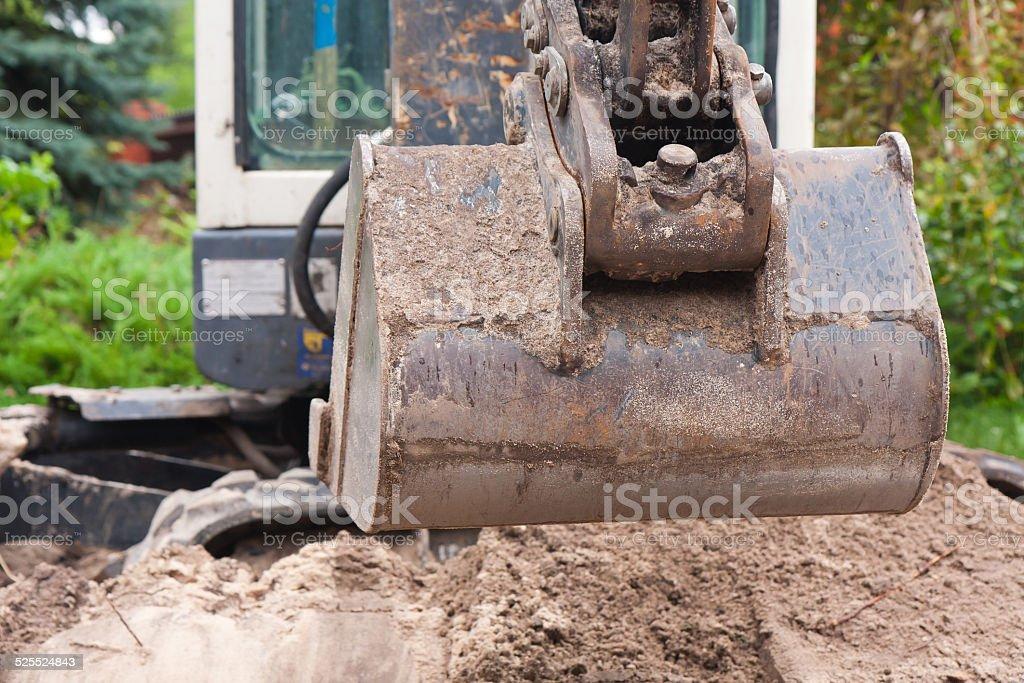 Small digger stock photo