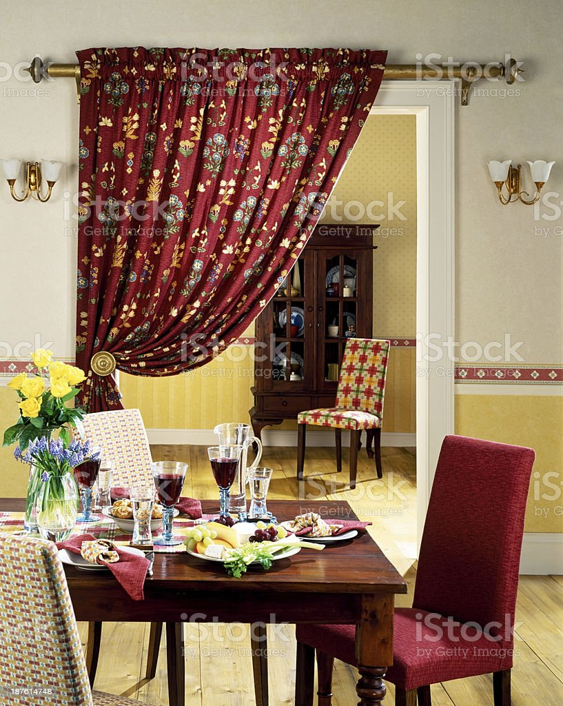 Small dinning area in a living room stock photo