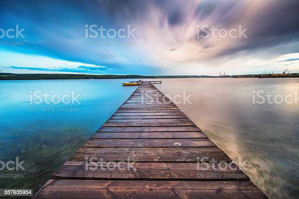 Photo of Small Dock and Boat at the lake