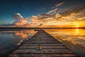 小型ドックやボートの湖