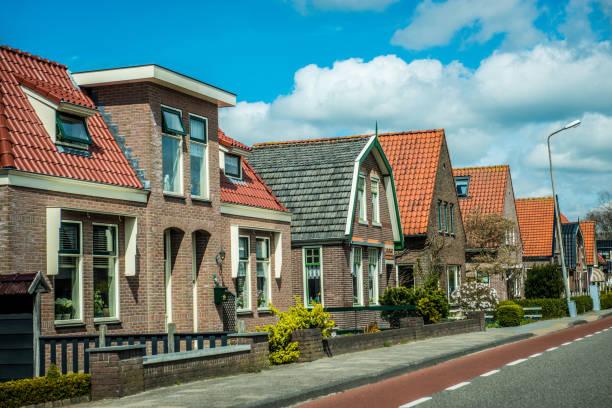 Small Dutch Village Neighborhood stock photo