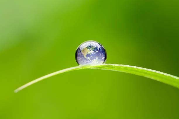 Small Earth North America. Nature Water Environment Green Drop World stock photo