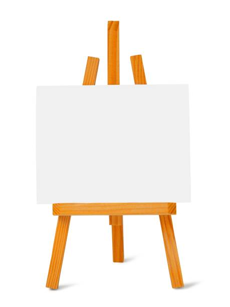 Small easel and canvas stock photo