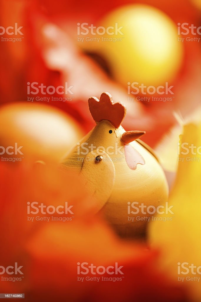 Small easter chicken royalty-free stock photo