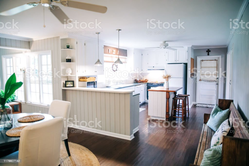 Small Eat In Kitchen Dining Area With Table And Chairs Stock Photo Download Image Now Istock