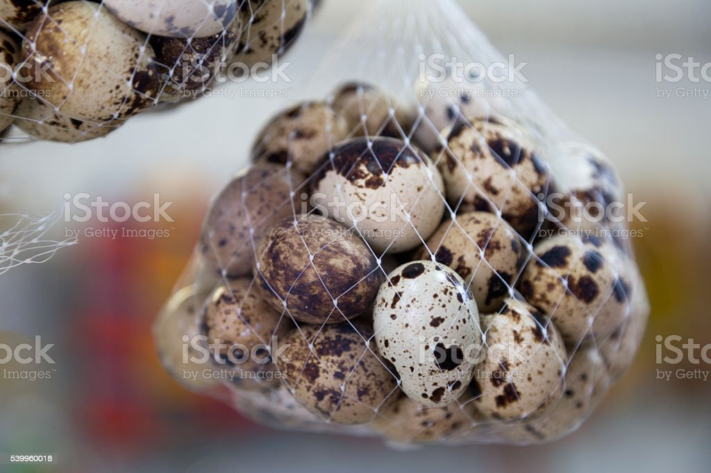Small eggs stock photo