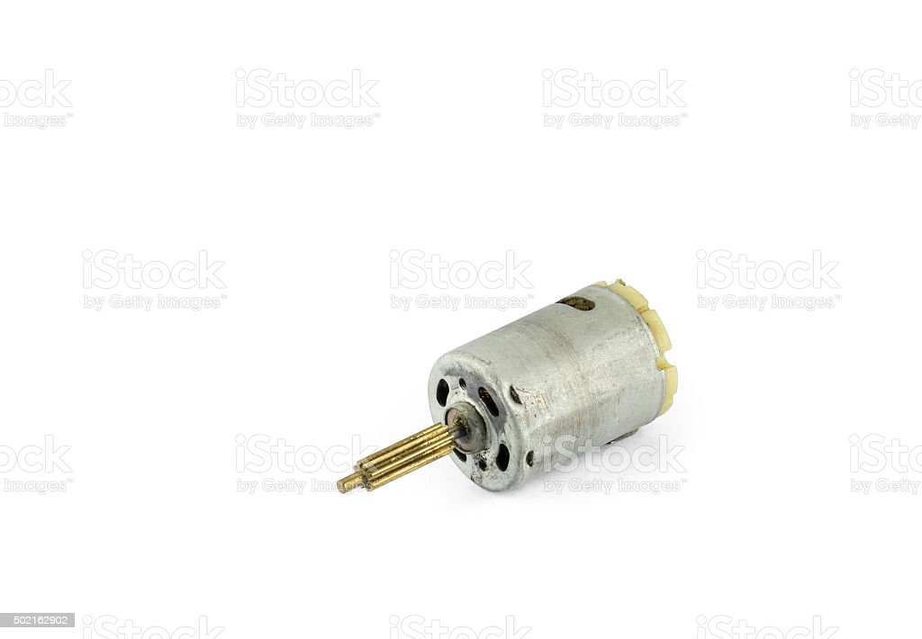 Small electric motor stock photo