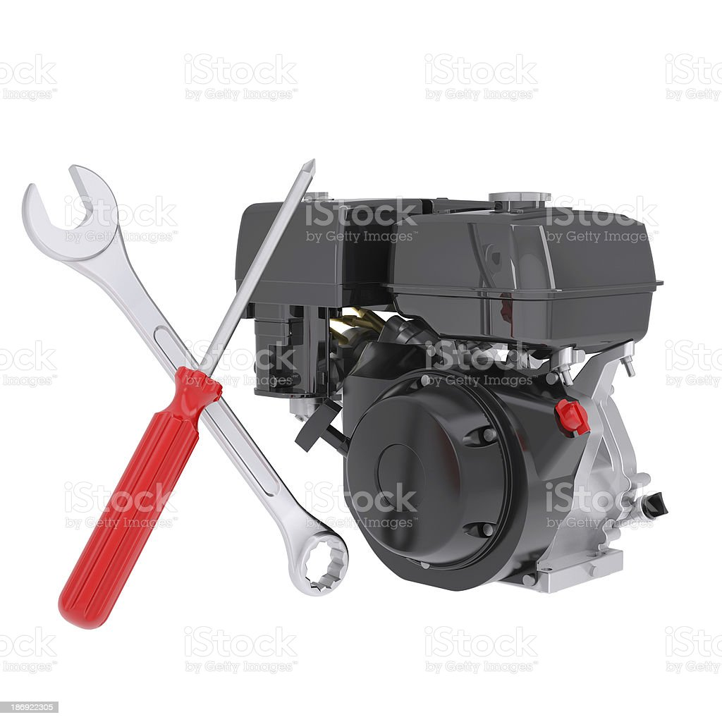 Small engine and instruments royalty-free stock photo