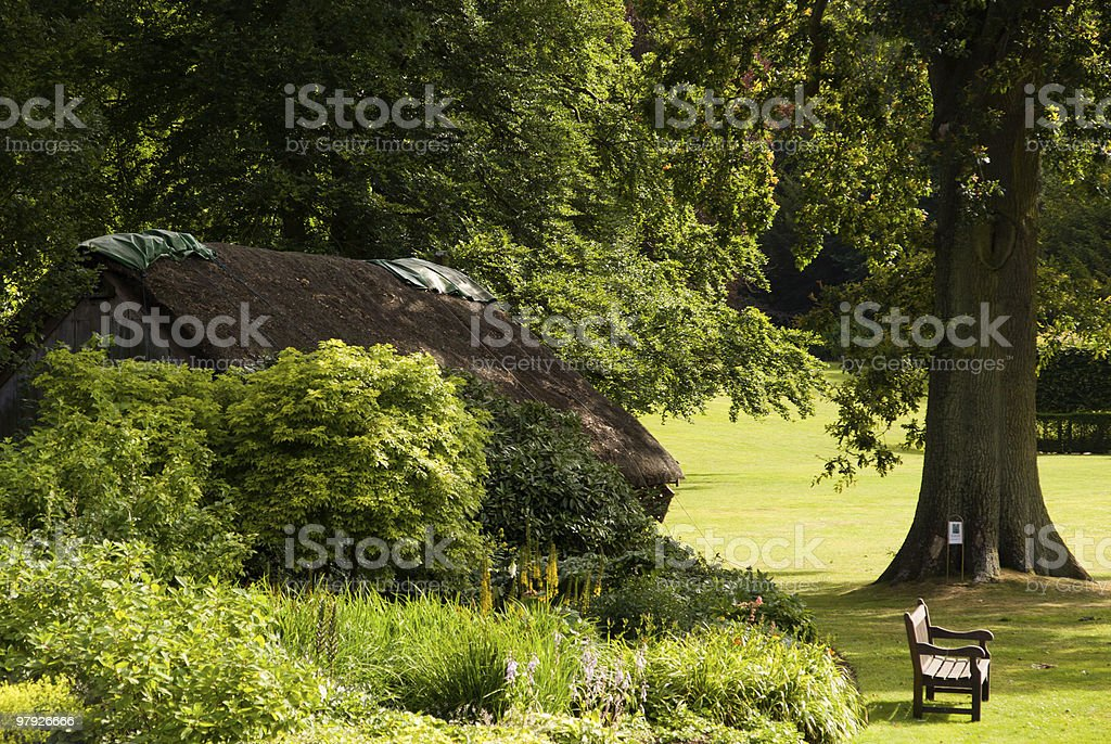 Small english cottage royalty-free stock photo