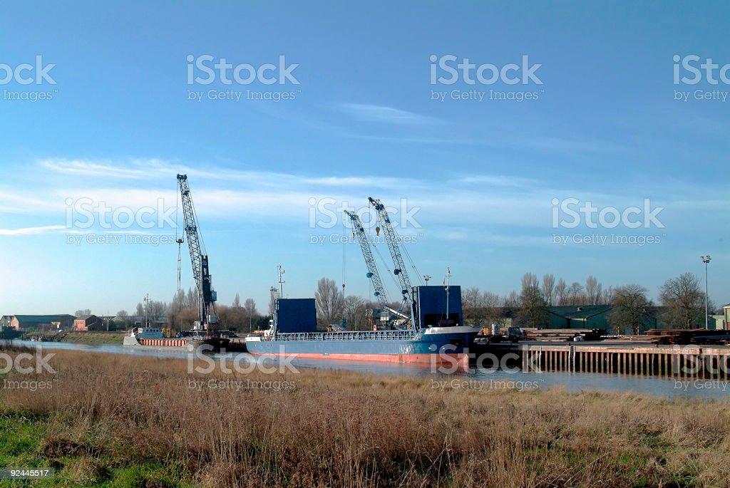 Small English port royalty-free stock photo