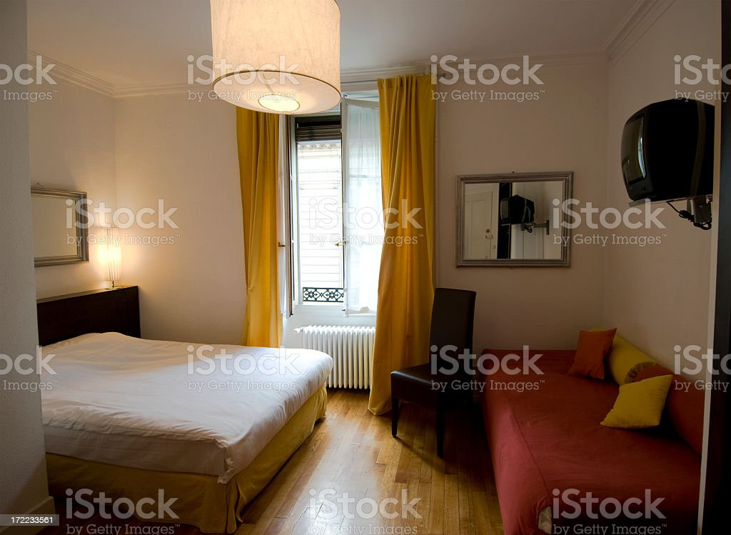 Small European Hotel Room stock photo