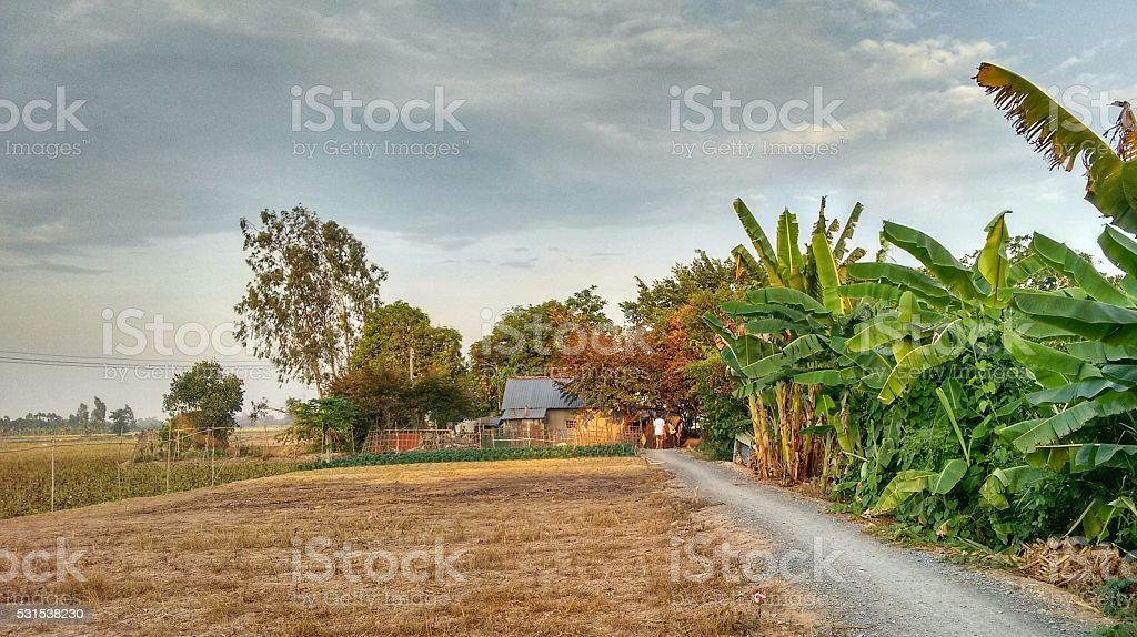 Small Farm in Rural Surrounding stock photo