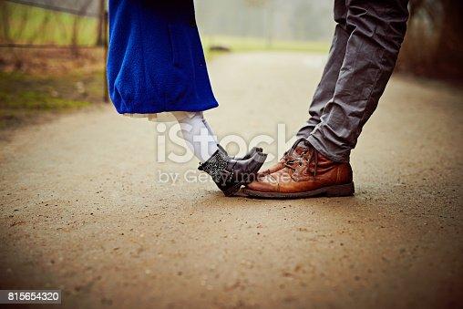 istock Small feet, big feet, how very sweet 815654320