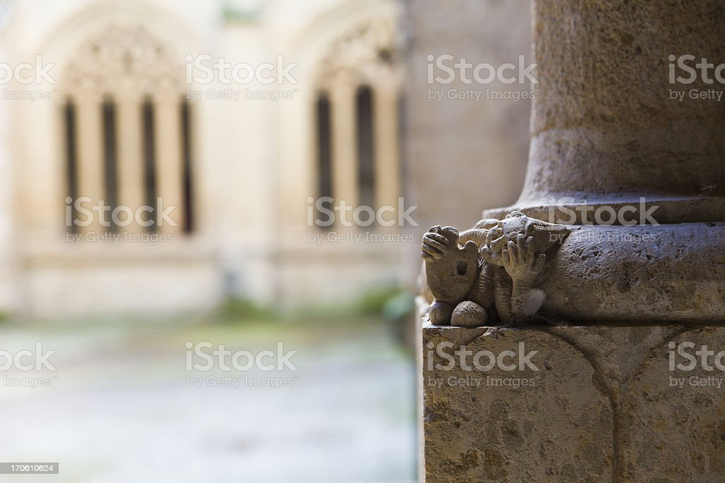 Small figure of the cloister royalty-free stock photo