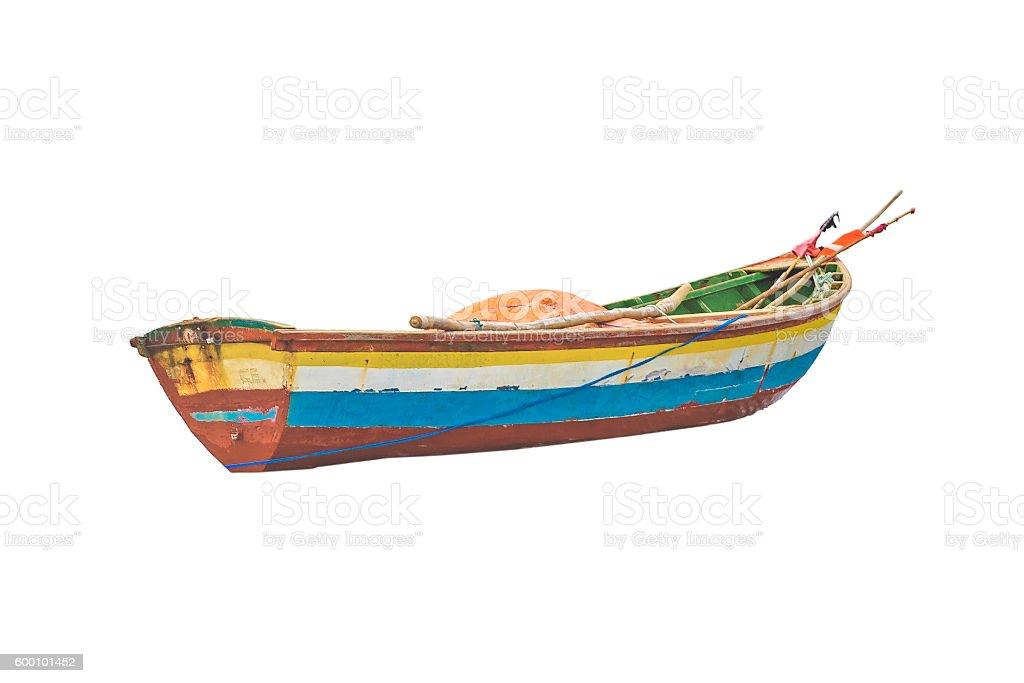 Small Fishboat Isolated stock photo