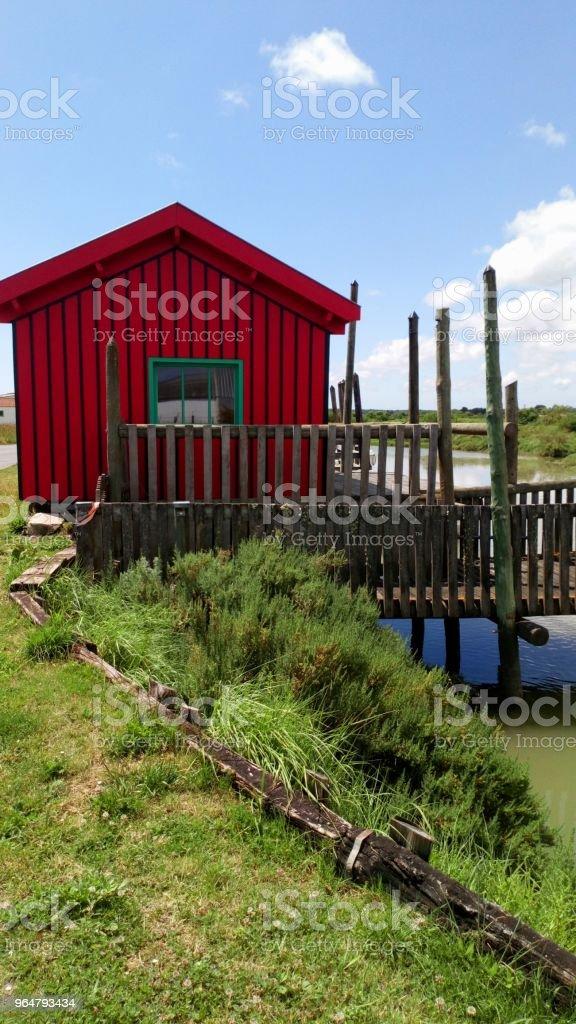 Small fishermen's house royalty-free stock photo
